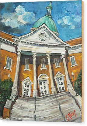 First United Methodist Church Athens Al Wood Print
