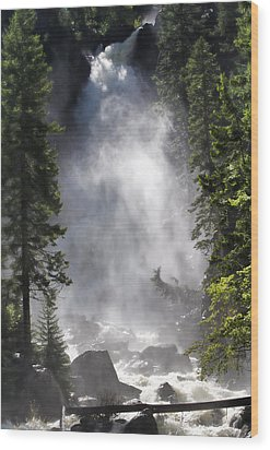 Fish Creek Falls Wood Print by Don Schwartz