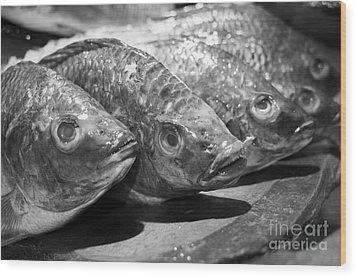 Fish Wood Print by Dean Harte