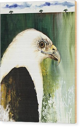 Fish Eagle Wood Print by Anthony Burks Sr