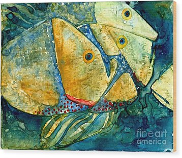 Fish Friends Wood Print