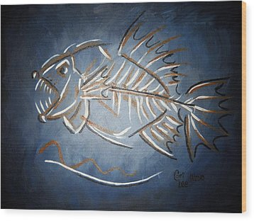 Fish Head Wood Print
