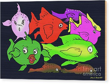 Fish Wood Print by Jerry L Barrett