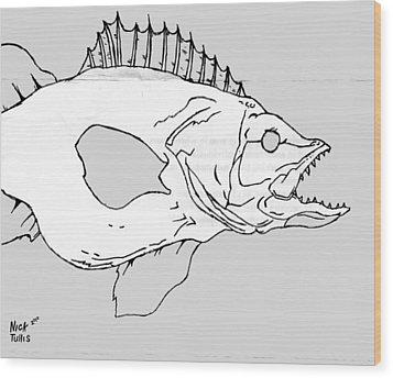 Fish Wood Print by Nicholas Tullis