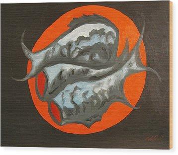 Fish Platter Wood Print