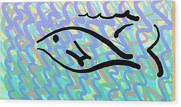 Fish Wood Print by Sam Shacked
