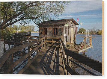 Wood Print featuring the photograph Fish Shack by Fran Riley