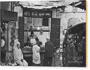 Fish Shop Wood Print by Marion Galt