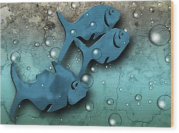 Fish Wall Wood Print by Terry Cork