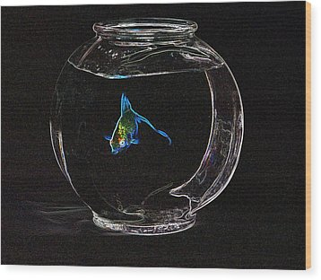 Fishbowl Wood Print