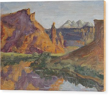 Fisher Tower Castle Valley Moab Utah Wood Print by Zanobia Shalks