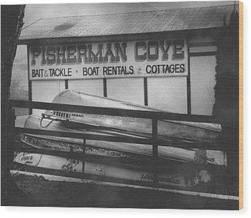 Fisherman Cove Wood Print