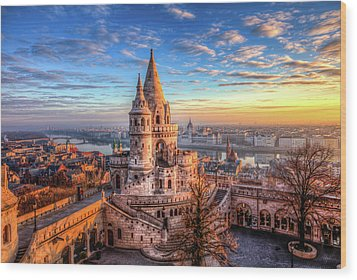 Fisherman's Bastion In Budapest Wood Print by Shawn Everhart
