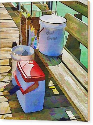 Fisherman's Buckets Wood Print by Rena Trepanier