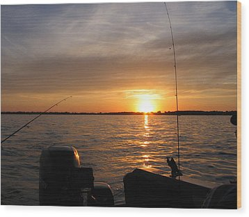 Wood Print featuring the photograph Fishermans Sunset by Jack G  Brauer