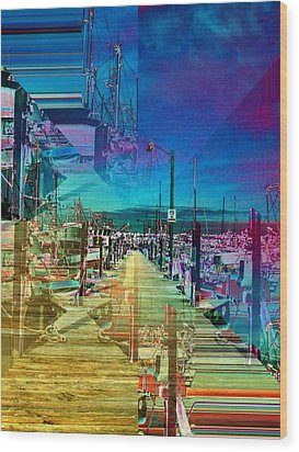 Fishermans Terminal Pier 2 Wood Print by Tim Allen