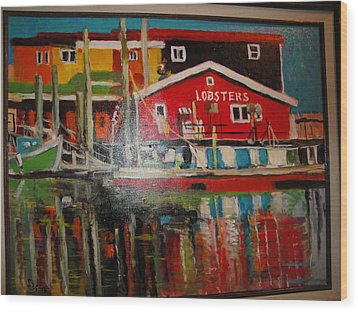 Fishermans Wharf Wood Print by Les Smith