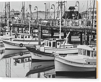 Fishermans Wharf Wood Print