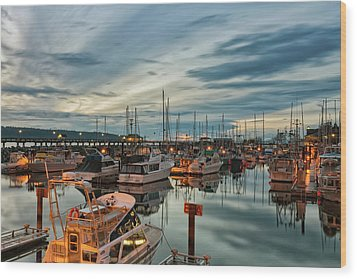 Wood Print featuring the photograph Fishermans Wharf by Randy Hall