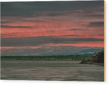 Wood Print featuring the photograph Fishermans Wharf Sunrise by Randy Hall