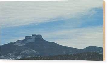 Wood Print featuring the photograph Fishers Peak Raton Mesa In Snow by Christopher Kirby