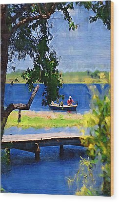 Wood Print featuring the photograph Fishin by Donna Bentley
