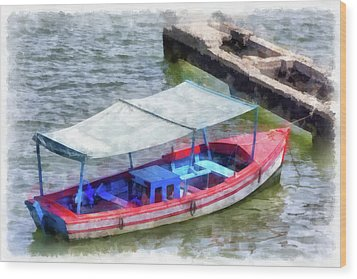 Fishing Boat Wood Print by Dawn Currie