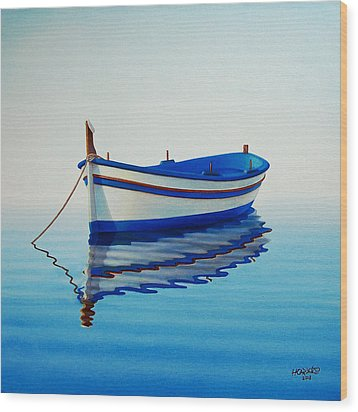 Fishing Boat II Wood Print
