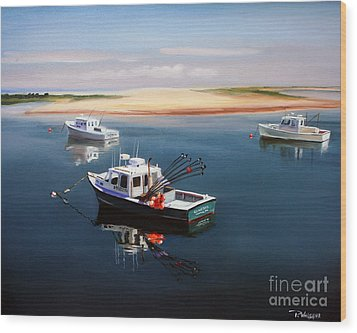 Fishing Boats-cape Cod Wood Print by Paul Walsh