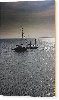 Fishing Boats Essex Wood Print