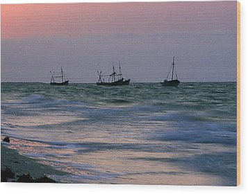 Fishing Boats Wood Print by Michael Mogensen