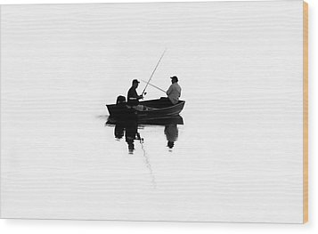 Fishing Buddies Wood Print by David Lee Thompson