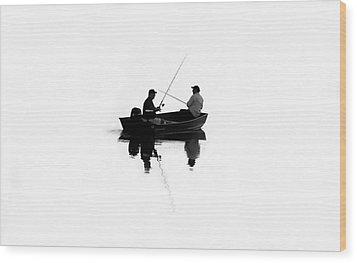Fishing Buddies Wood Print by David Lee Thompson