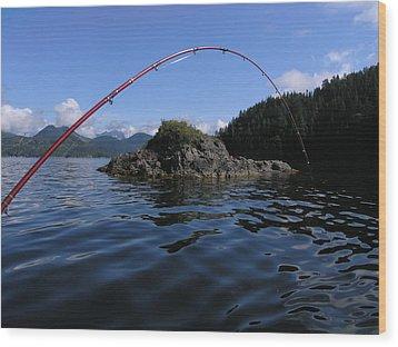 Fishing Camel Rock Wood Print