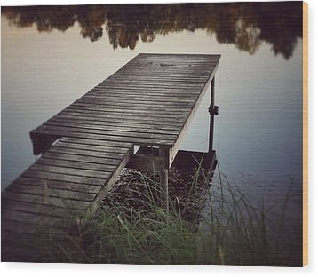Wood Print featuring the photograph Fishing Dock by Karen Stahlros