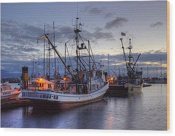 Fishing Fleet Wood Print by Randy Hall