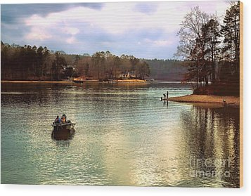 Wood Print featuring the photograph Fishing Hot Springs Ar by Diana Mary Sharpton