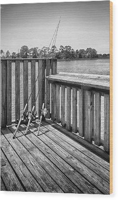 Wood Print featuring the photograph Fishing by Howard Salmon
