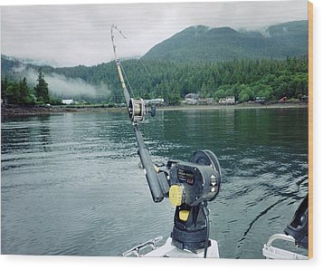 Fishing   In Se Alaska Wood Print by Judyann Matthews
