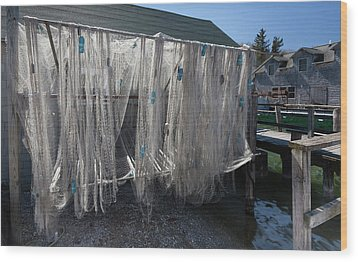 Wood Print featuring the photograph Fishing Net by Fran Riley