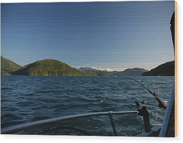 Fishing Off Hisnit Inlet Wood Print