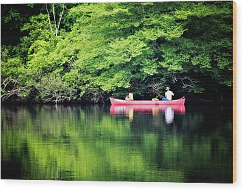 Fishing On Shady Wood Print by Lana Trussell