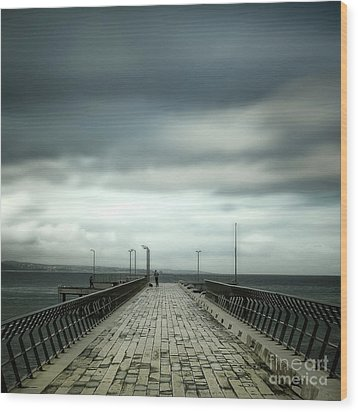 Wood Print featuring the photograph Fishing Pier by Perry Webster