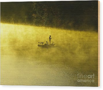 Fishing The Prettyboy Reservoir Wood Print