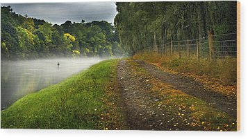 Fishing The River Beauly Wood Print