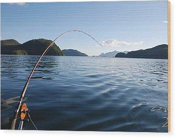 Fishing Tlupana Inlet Wood Print