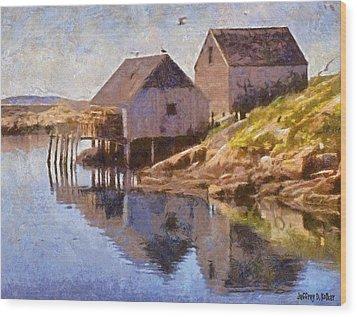 Fishing Wharf Wood Print by Jeffrey Kolker