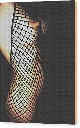 fishnet I Wood Print