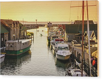 Wood Print featuring the photograph Fishtown by Alexey Stiop