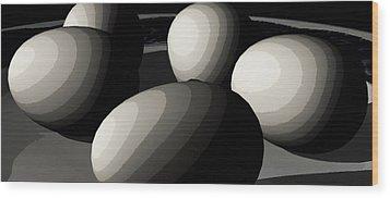 Five Eggs  Wood Print